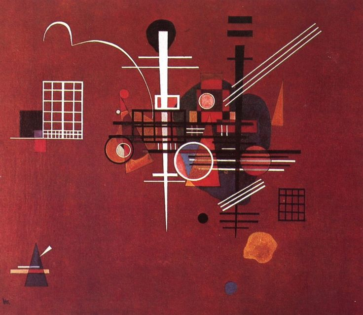 Wassily Kandinsky - Dull Red, 1927