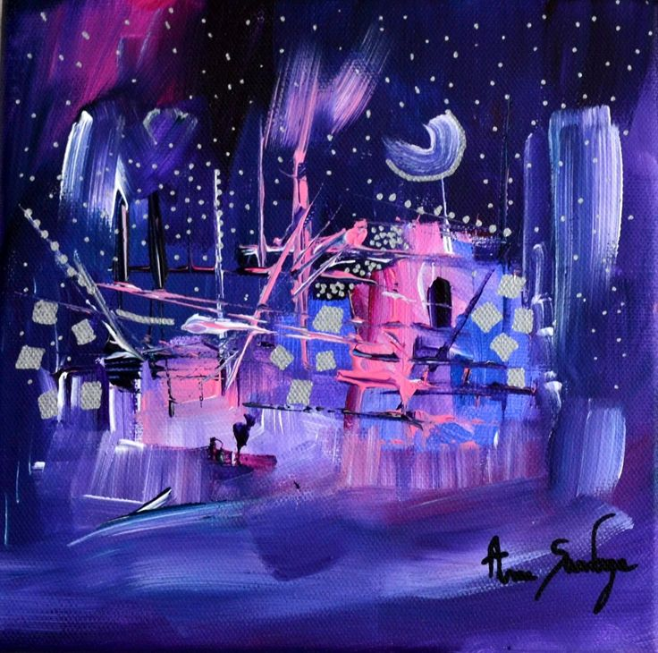 Belle+nuit+sous+la+neige
