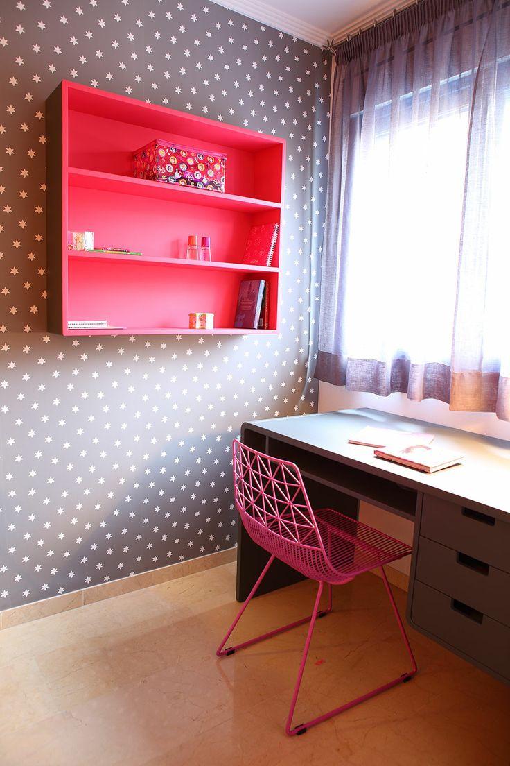 escritorio retro de Laurette en cyckids