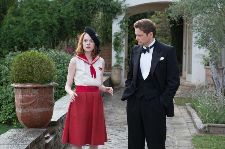 MAGIC IN THE MOONLIGHT, Emma Stone, Colin Firth, 2014 | Essential Film Stars, Colin Firth http://gay-themed-films.com/film-stars-colin-firth/