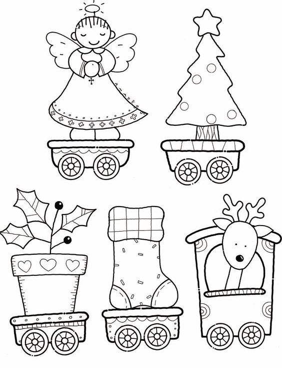printable christmas train coloring pages - photo#19