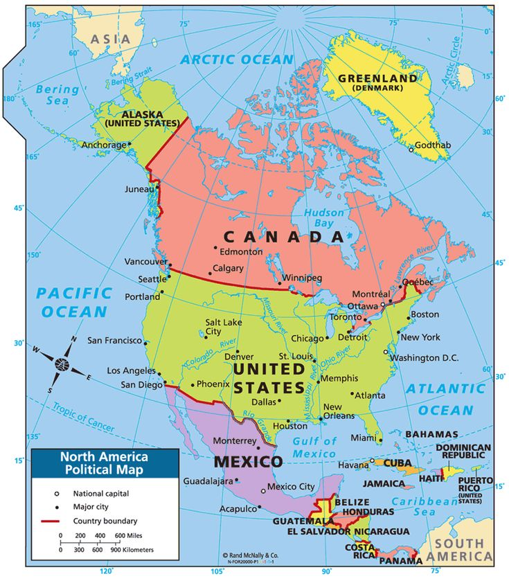 North America Political Map Eduplace Political Outline Map Of
