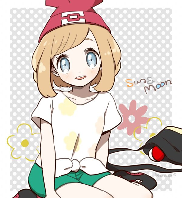 Pokemon sun and moon female trainer (She looks like Serena) #amourshippinginalola
