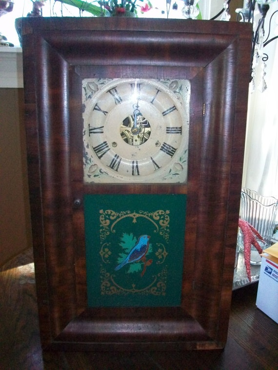 Antique Clock Seth Thomas Large Wall Clock Grandmother S