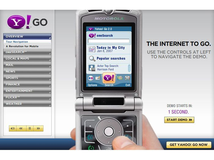 Yahoo Mobile relaunches with powerful tools | Ahead of the Apple iPhone and any potential Google phone, Yahoo has made large strides in the mobile-phone arena by announcing today that its Yahoo Go for Mobile suite of phone software has been radically revamped Buying advice from the leading technology site