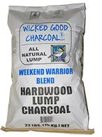 Wicked Good Charcoal: Weekend Warrior Blend hardwood lump charcoal