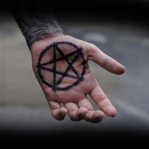 Mens Palm Pentagram Tattoo Ideas                                                                                                                                                                                 Plus