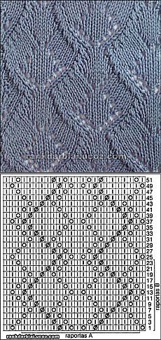 knit cross over pattern