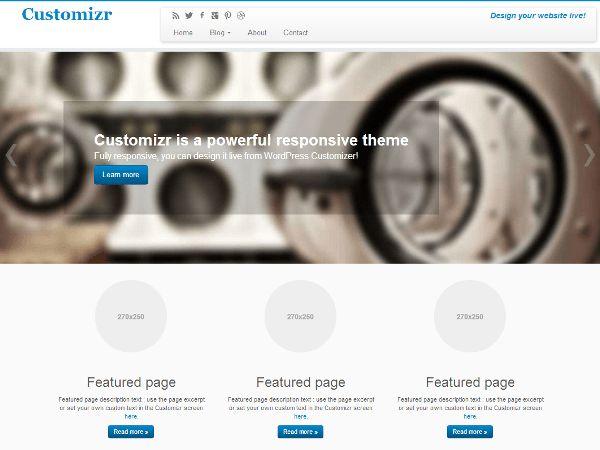WordPress › Customizr « Free WordPress Themes