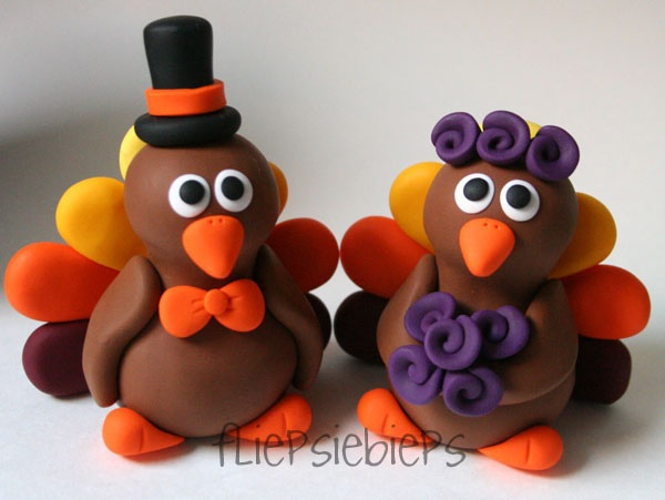 polymer clay craft ideas turkey wedding cake topper clay thanksgiving and 5226