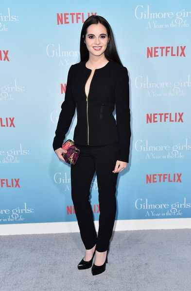 Vanessa Marano Pantsuit - Vanessa Marano was all business in a black pantsuit at the premiere of 'Gilmore Girls: A Year in the Life.'