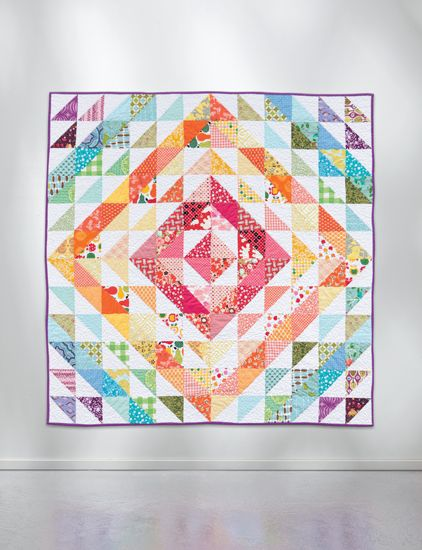 Rainbow Stash Buster quilt by Megan Jimenez