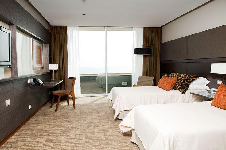 Esta es una de las habitaciones que los espera en Enjoy Antofagasta.