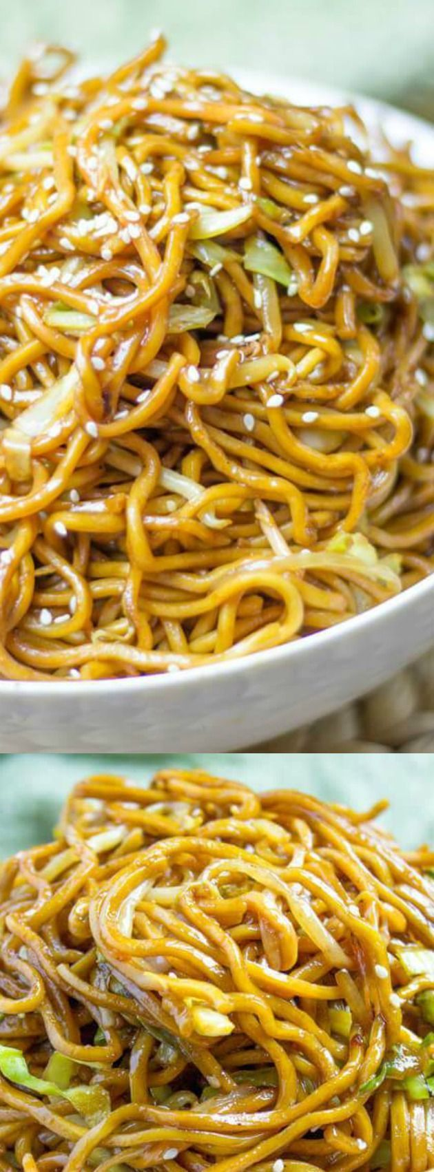 This Classic Chinese Chow Mein from Dinner then Dessert is a staple that you'll definitely want to make the next time your takeout craving sets in. It uses delicious authentic ingredients and is ready in just about 20 minutes — faster than you thought possible!