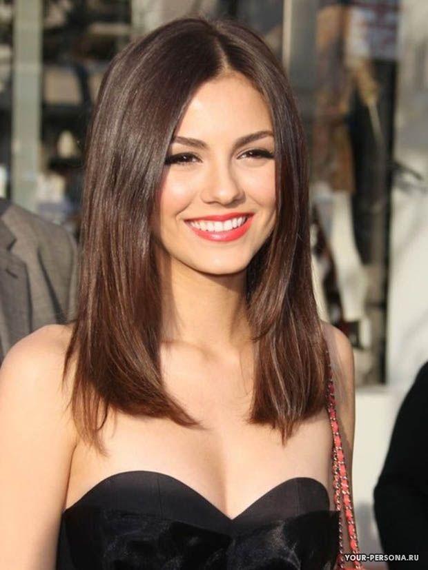стрижки средней длины на прямые волосы фото