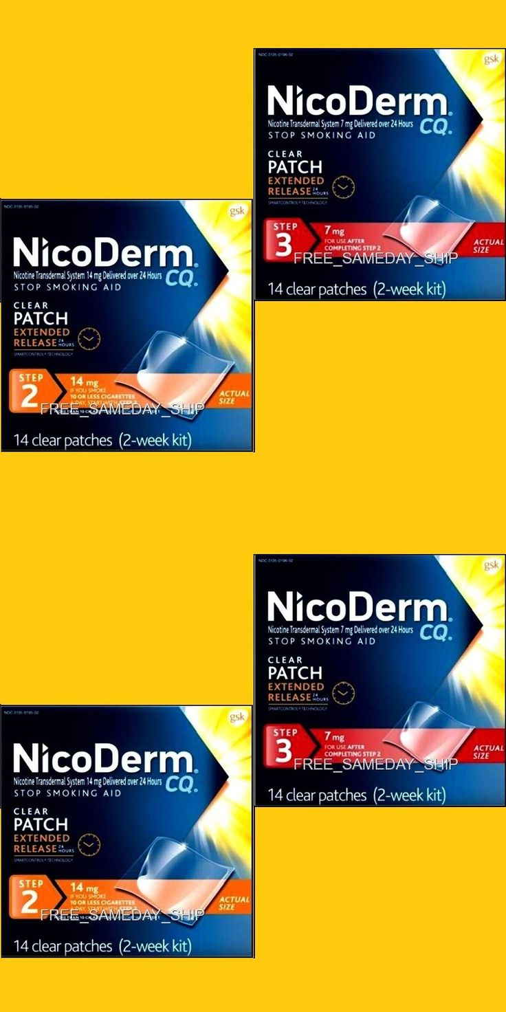 Patches: Free Sameday Ship_ Nicoderm Cq Step 2 And 3 Sept 2017 __4-Week 28 Nicotine Patches -> BUY IT NOW ONLY: $59.94 on eBay!