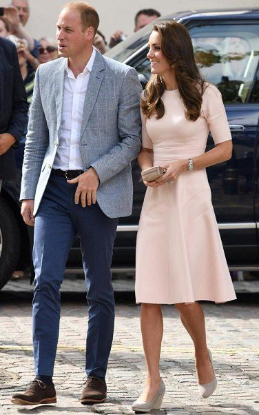 Duke of Cambridge Prince William and Duchess Catherine of Cambridge visited Truro Cathedral and Zebs Youth Centre as part of their day-long tour of Cornwall on September 1, 2016. Truro Cathedral is anglican church in the city center of Truro. Duchess Catherine wore a new dress by American designer Lela Rose during that visit.