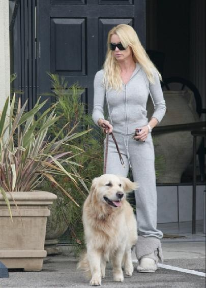 Nicollette Sheridan and Oliver who was a birthday present from her ex