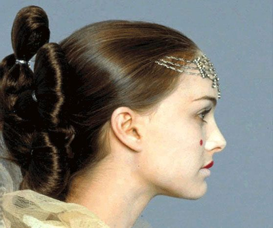 party hairstyles for medium length hair : ... on Pinterest Queen amidala, Natalie portman and Padme costume