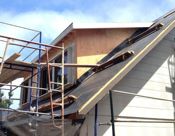 Attic Wood Couch And Attic Window Ladder In 2020 Attic Renovation Attic Remodel Attic Flooring