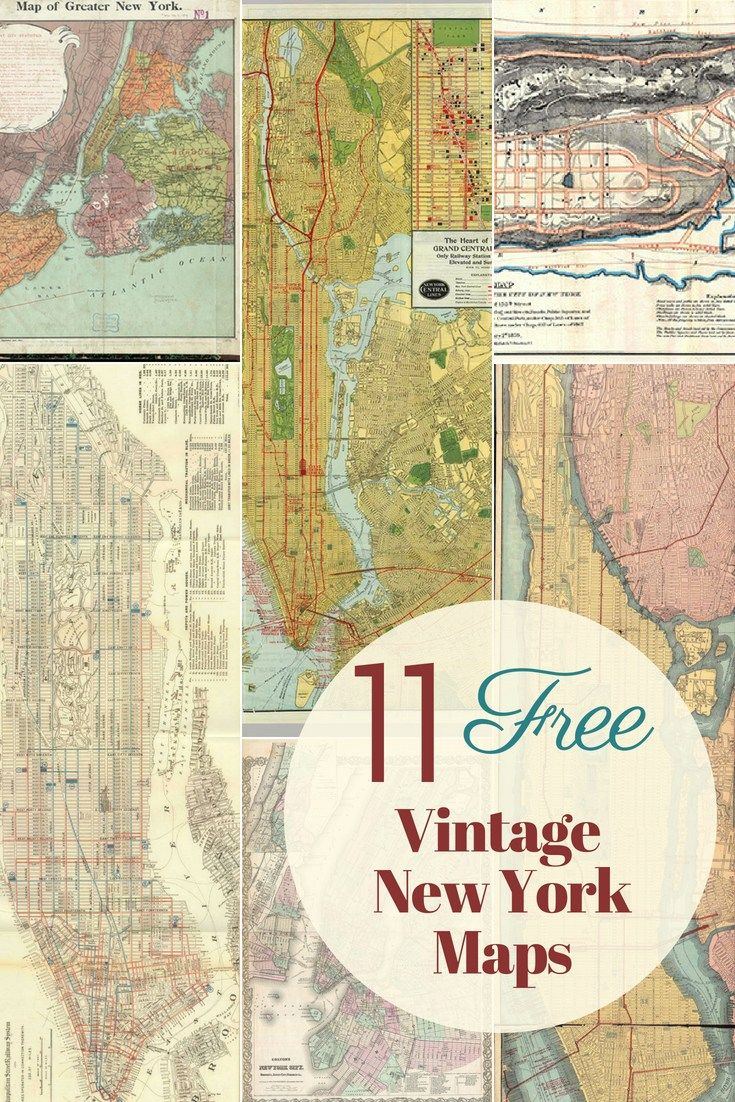 Map Of Greater New York City.A Fabulous Collection Of The 11 Best Vintage New York Maps To
