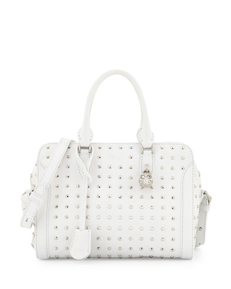 Small Studded Padlock Tote Bag White By Alexander Mcqueen At Bergdorf Goodman