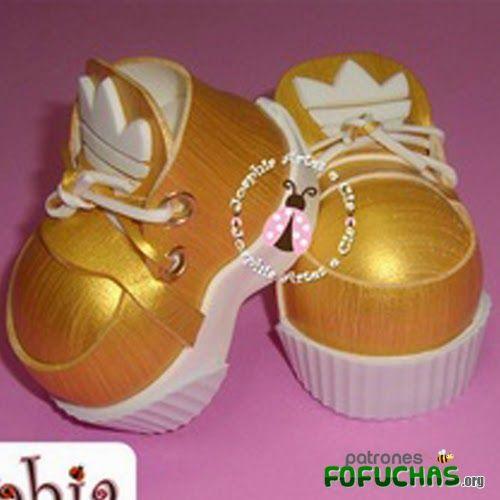 Patrones fofuchas - zapatos dorados
