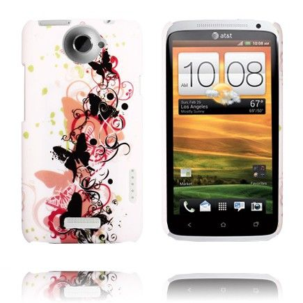Valentine (Black Butterflies) HTC One X Cover