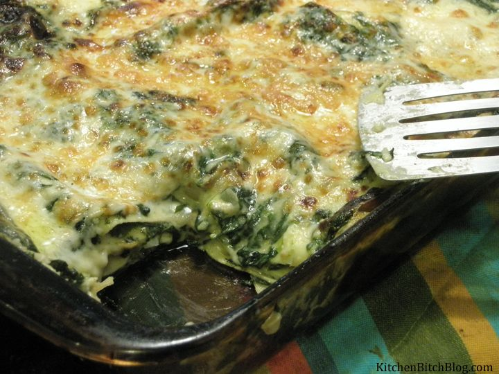 White Spinach and Mushroom Lasagna | Foodie | Pinterest
