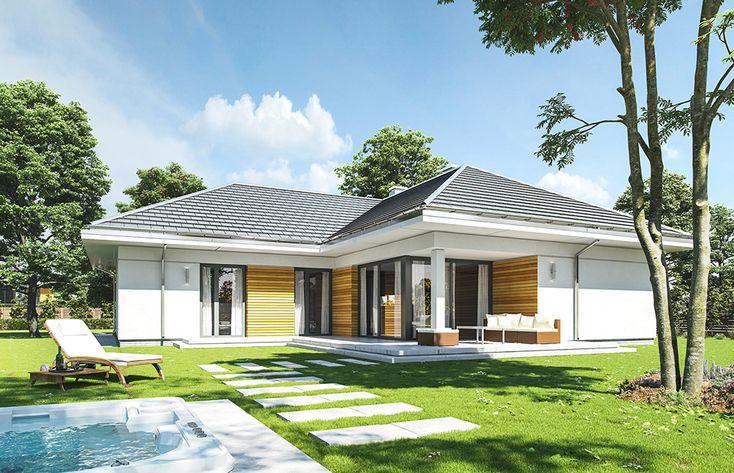 projekt-domu-parterowy-wizualizacja-ogrodowa