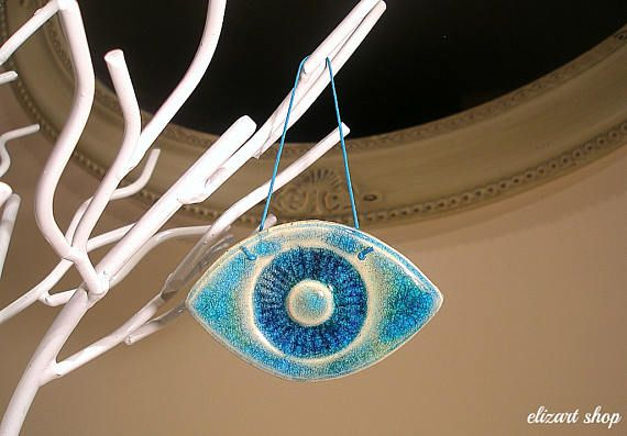 Ceramic eye evil eye blue evil eye wall hanging eye