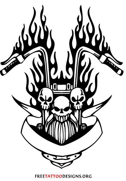 Biker And Harley Davidson Tattoos