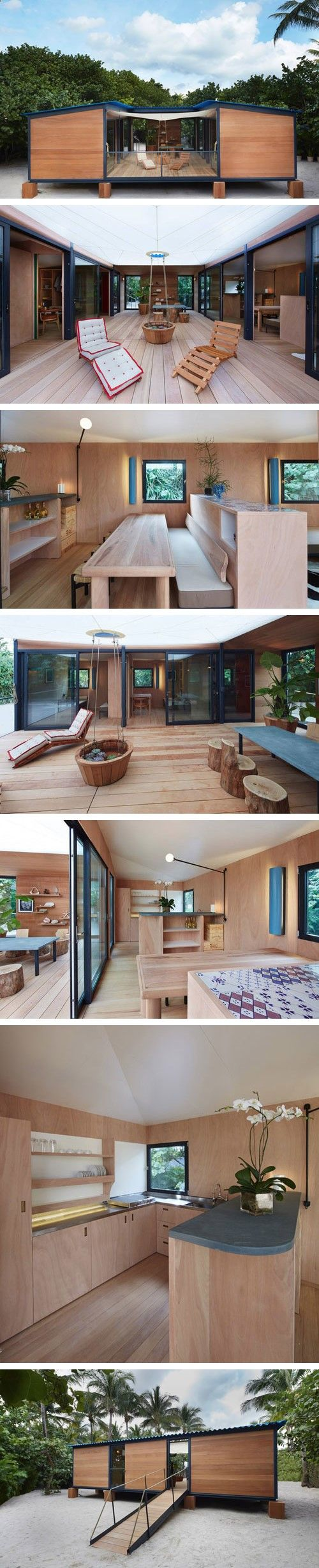 Container House - Charlotte Perriand La Maison au Bord de lEau. Rebuilt for Art Basel Miami Beach with LVs support Who Else Wants Simple Step-By-Step Plans To Design And Build A Container Home From Scratch?