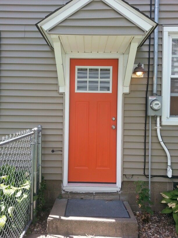 Orange Door Love Home Pinterest Exterior Colors