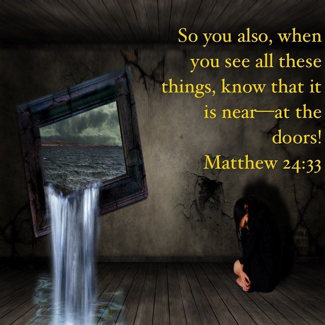 "You see the signs or curious about them because you can see the world changing but to scared to seek the answers to your questions. Don't get caught unprepared like they did in Noah's time. Your here so it's not to late to get ready. So you also when you see all these things know that it is nearat the doors! Matthew 24:33 . When Noah and Lot warned their respective people of God's coming judgment and destruction the people would not listen. Instead they treated Noah and Lot as ""extremists""…"