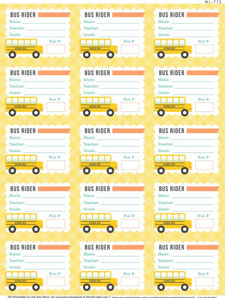96 best Bus tags images on Pinterest Bus tags, School buses and - bus pass template