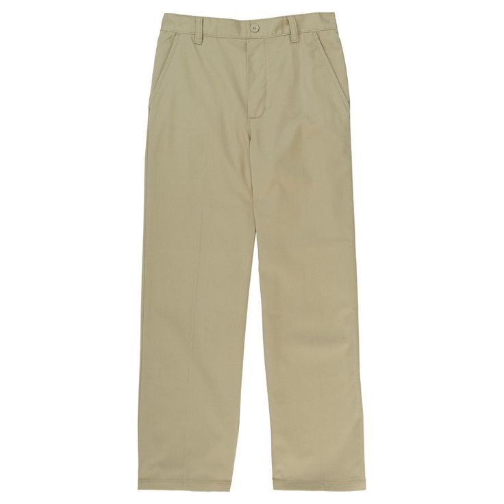 French Toast Boys' Pull on Twill Pant 12 - Khaki (Green)