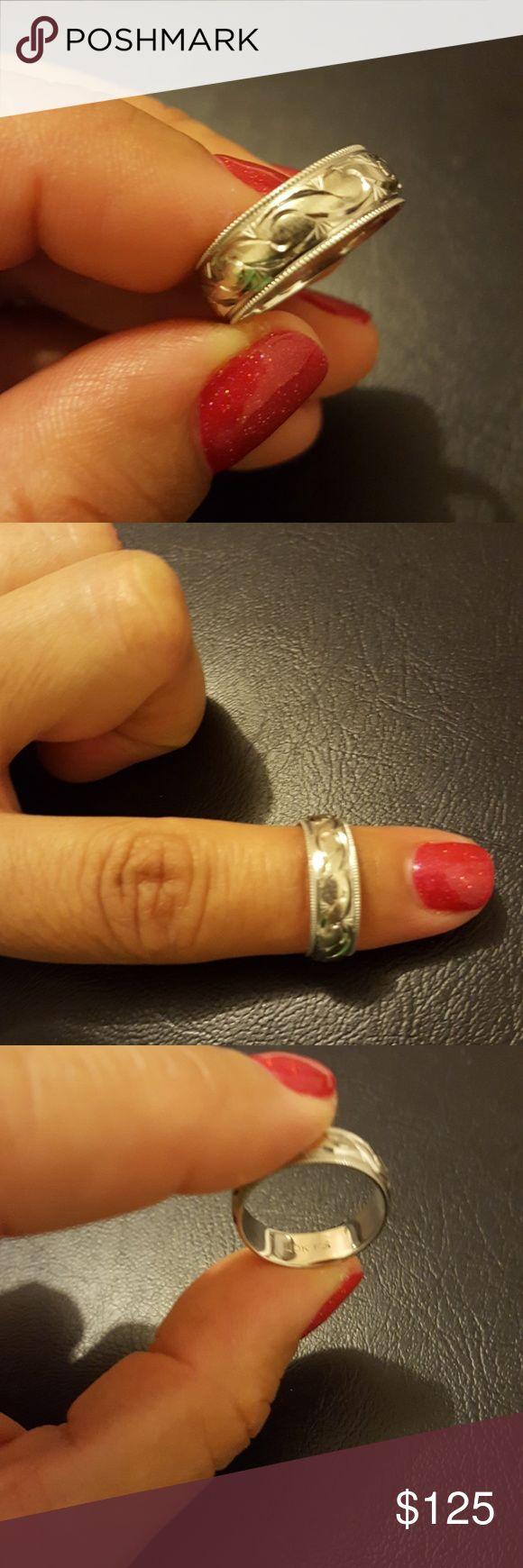 Ladies Engraved Ring Lovely 10 karat white gold engraved ring Zales Jewelry Rings