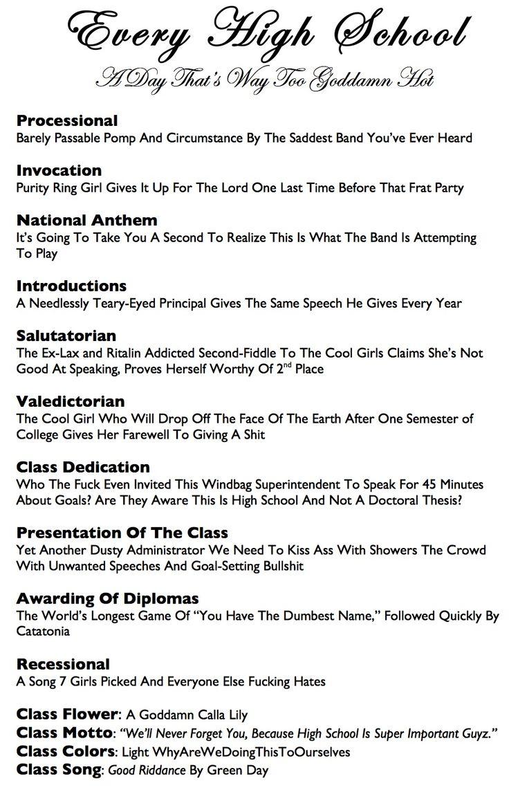 Sample Middle School Graduation Speech
