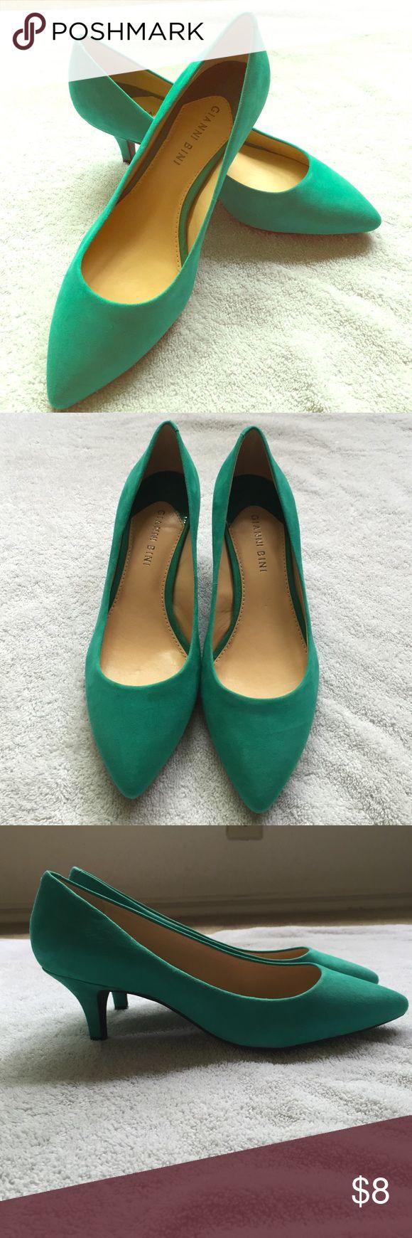 Gianni Bini kitten heels Gianni Bini teal kitten heals size 8. Never worn. Gianni Bini Shoes Heels