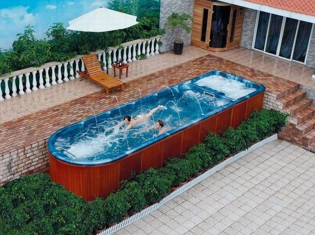 1000 ideas about above ground swimming pools on pinterest above ground pool landscaping - Above ground composite pool deck ...