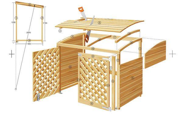 m lltonnenbox garten m lltonnenverkleidung m lltonnenbox und m ll. Black Bedroom Furniture Sets. Home Design Ideas