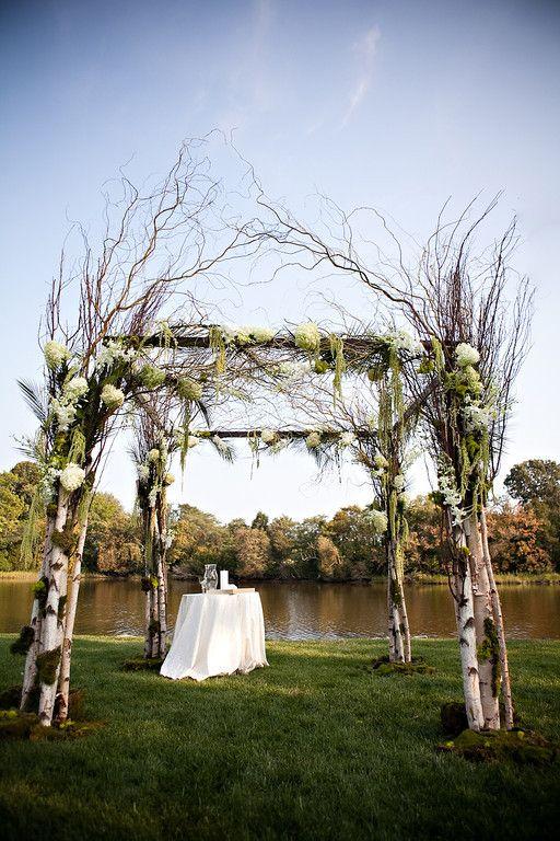 Birch Mandap Wedding Arch Chuppah Outdoor Wedding