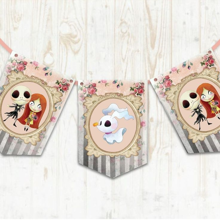 Halloween Bunting, Nightmare Before Christmas Bunting, Gothic Banner, Decoration