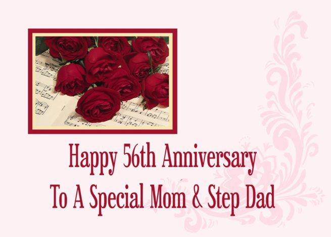 Mom And Step Dad 56th Anniversary Card Ad Ad Dad Step Mom Card Anniversary Cards Anniversary Cards For Wife Anniversary Cards For Husband