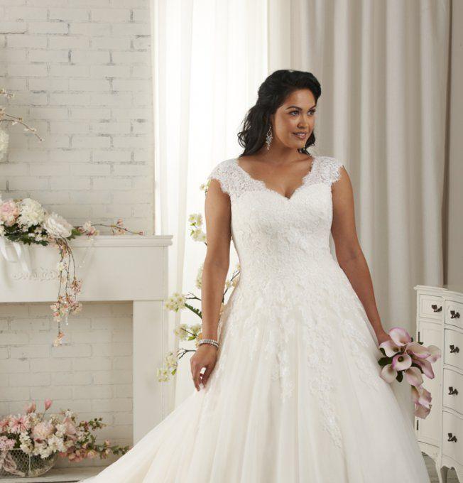 Robe de mariée grande taille Mariage Soleil