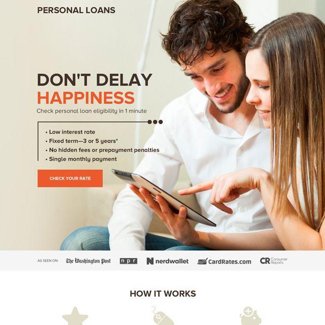Professional Personal Loan Rates Responsive Landing Page Design Loanlender Lendingbusiness Loans Personalloan Personal Loans Landing Page Design Loan Rates