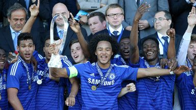 Isaiah Brown captained Chelsea to victory in the UEFA Youth League final