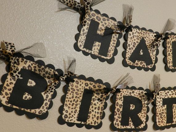 Hey, I found this really awesome Etsy listing at https://www.etsy.com/listing/166202878/leopard-birthday-banner-cheetah