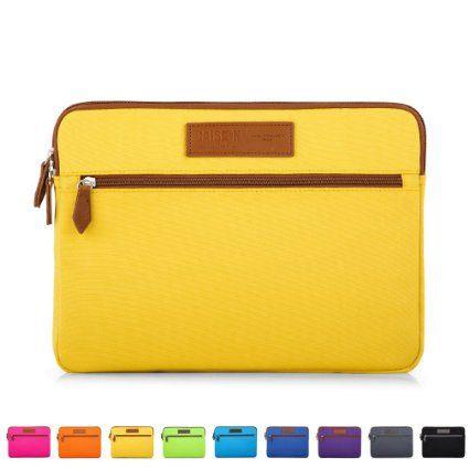 """Caison 15.6"""" Modisch Klassisch Tragbar Laptop Sleeve Case Bag Hülle Beutel 15.6 Zoll Notebook Tasche Schoner Schutzhülle Aktentasche Schutzabdeckung (Gelb)"""